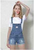 Casual Skinny Pants Jeans Short Bodysuit Pockets Fashion Denim Shorts Women S Jumpsuit Denim 2017 Summer