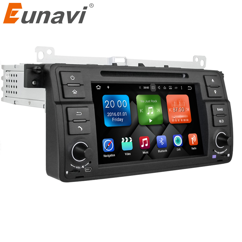 Eunavi Octa Core 1 Din 7'' Android 9.0 Car DVD player car radio stereo for BMW E46 M3 with GPS Navigation Bluetooth WIFI DSP SWC image