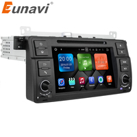 Eunavi Octa Core 1 Din 7'' Android 9.0 Car DVD player car radio stereo for BMW E46 M3 with GPS Navigation Bluetooth WIFI USB SWC