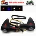 2 pcs Universal Moto Bicicleta Turn Signal Indicator Light Blinker Lâmpada Nova Deixar Cair O Transporte