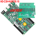 HD HD-C30 + HUB75E-10 USB + Ethernet Порт Асинхронного полноцветный СВЕТОДИОДНЫЙ платы управления 10 * HUB75E Может использоваться в качестве отправка карт C30 3 шт./лот