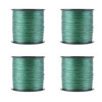 500M Weaving Super Strong 8 Strands Multifilament Braided Fishing Line Rope Dark Green 2 5