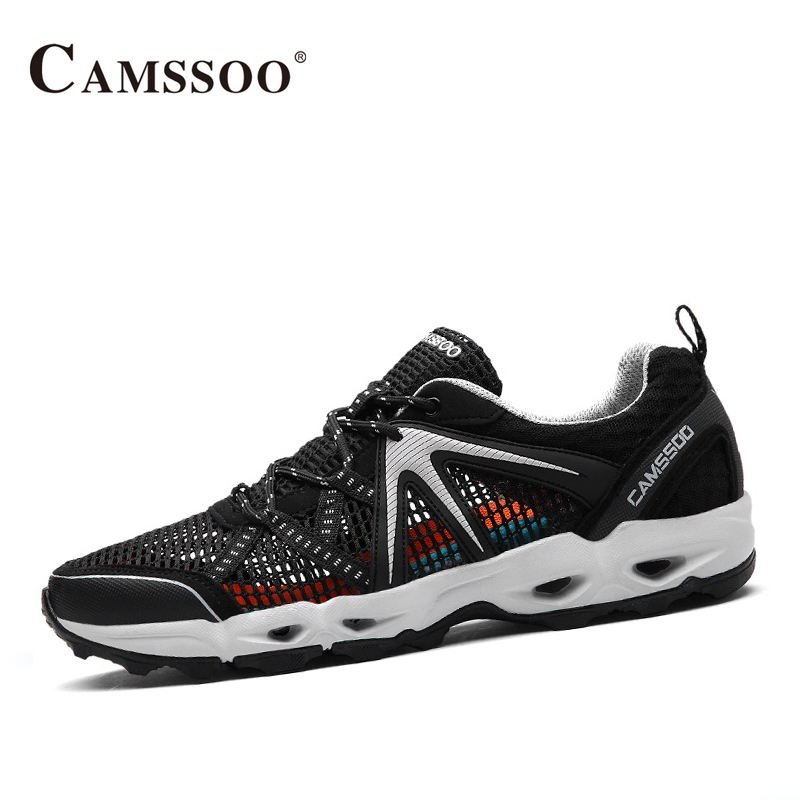Camssoo Men Aqua Shoes High Quality Summer Water Sneakers Men Light Brand Cool Sneakers AA50175