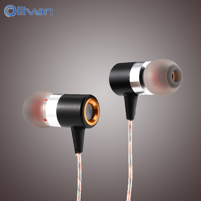 OLLIVAN wired In-ear Earphone 3.5mm Subwoofer Bass Wired Metal Earphones Noise-Canceling Headset Earbuds for XiaoMi Samsung cbaooo stereo earphone wired in ear headset ear hook earbuds headphone with microphone noise canceling earphones for phone pc