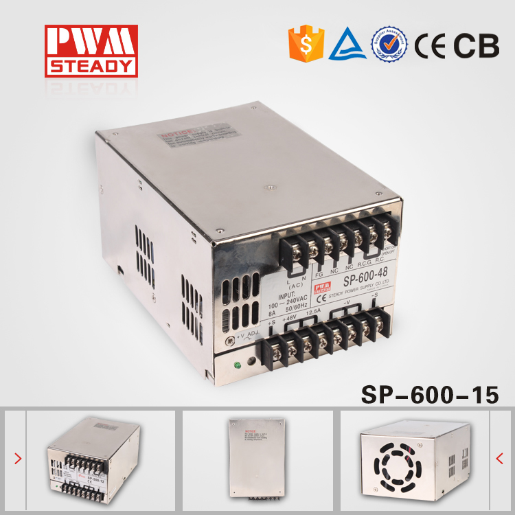 (SP-600-15)China golden supplier ac dc 15v 600w pfc power supply ce approved oem 500w 15v dc power supply high efficiency transformer 15v 32a china supplier