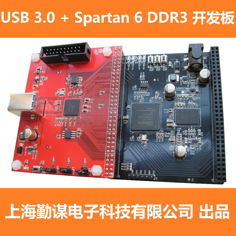 USB 3 CYUSB3014 Development Board, FPGA Spartan6 Core Board, XC6SLX16 DDR3.
