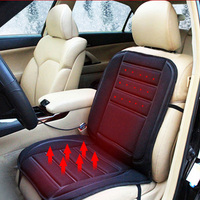 Winter Warm Car Seat Cushion Cover 12V DC Electric Heated Car Seat Covers Pad Color Black