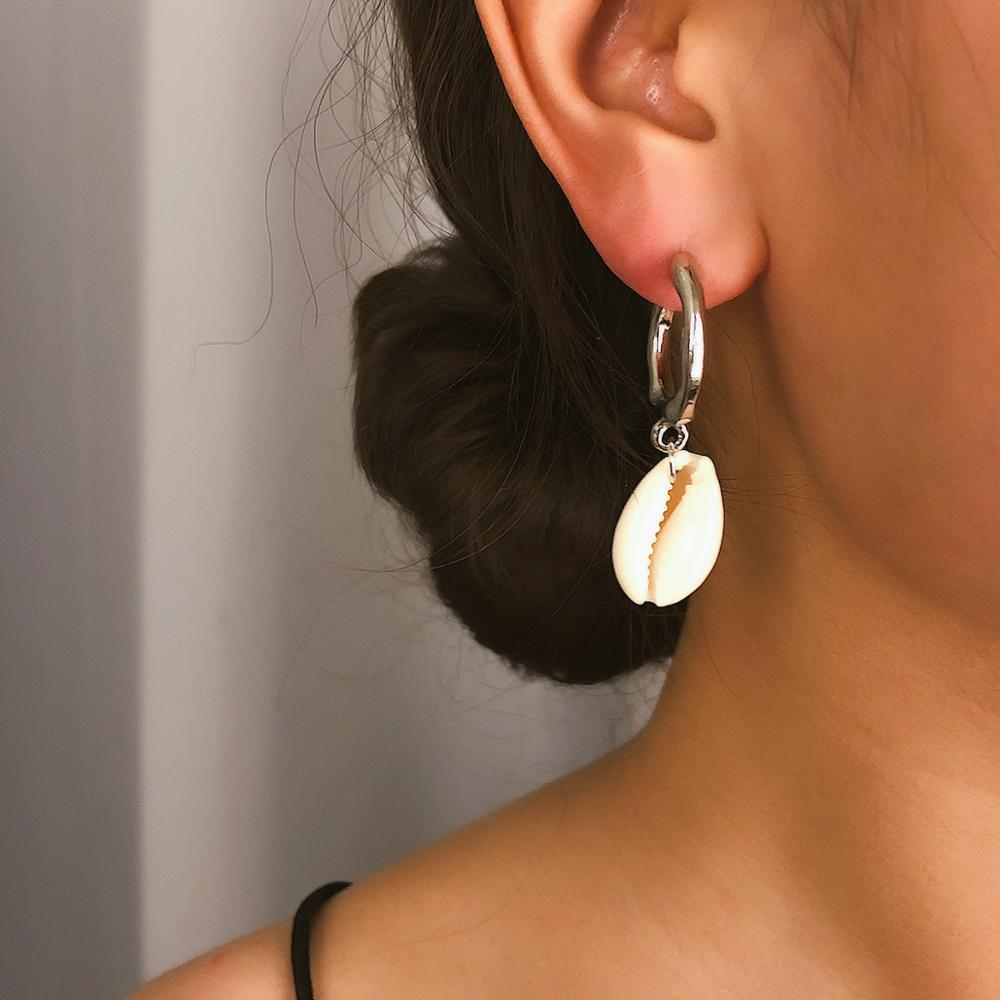 Boucles d'oreilles mode bijoux bohème pendentif boucle d'oreille Shell bijoux pour femmes Long Simple boucles d'oreilles cadeaux