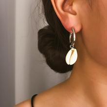 Drop Earrings Fashion Jewelry Bohemian Pendant Earring Shell Jewelry for Women Long Simple Earrings Gifts fashion jewelry simple style one metal chain ball long drop earrings for women jewelry fancy earrings