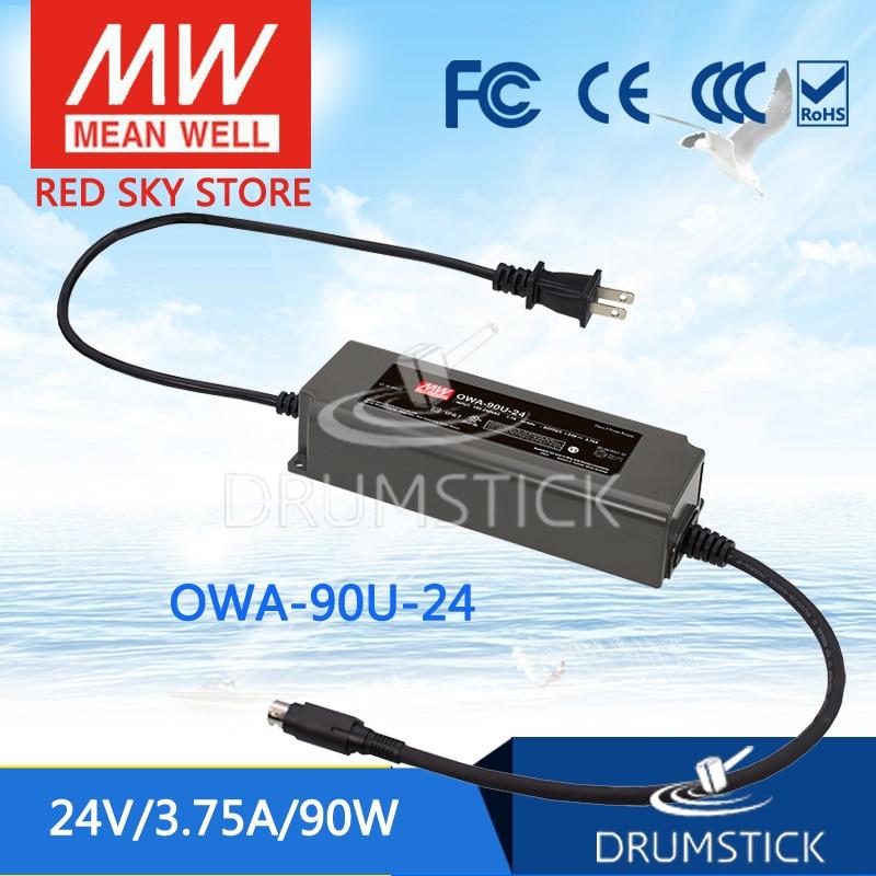 цена на MEAN WELL OWA-90U-24 24V 3.75A meanwell OWA-90U 24V 90W Single Output Moistureproof Adaptor with lock type