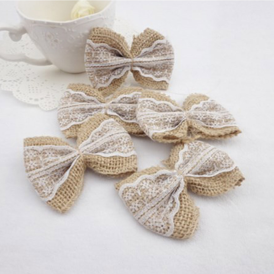 Hessian Bows Craft Supplies