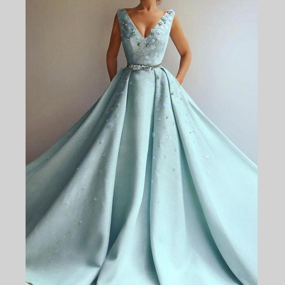 Saudi Arabic Long   Evening     Dresses   Flowers Two Pieces New Women Formal Gown For Prom Wedding Party   Dresses   Robe De Soiree