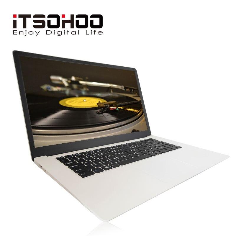 ITSOHOO 15.6 pouces ordinateur portable Intel Cherry Trail X5-Z8350 4GB RAM 64GB EMMC Quad core grande taille ordinateurs portables Windows 10 OS BT 4.0 ordinateur