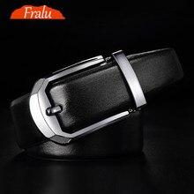 FRALU 2017 thiết kế thắt lưng đai da của nam giới da đầu khóa khóa phù hợp với kinh doanh men s da nam vành đai vành đai