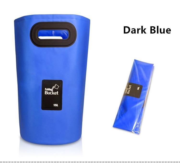 Bolsa de agua plegable portátil de PVC 15L