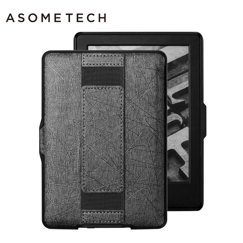 For Amazon Kindle paperwhite 1 2 3 Hand holder Strap Cover Senior PU Leather Case for Amazon Kindle E-book for Kpw 123 bag skin for amazon kindle paperwhite e book leather case print slim smart ebook cover for kindle paperwhite 3 e reader protective stand