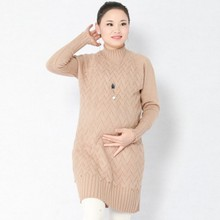 Knitted Maternity Sweater Autumn And Winter New Long Thick Pregnancy Pullover Clothes For Pregnant Women Maternity Dress