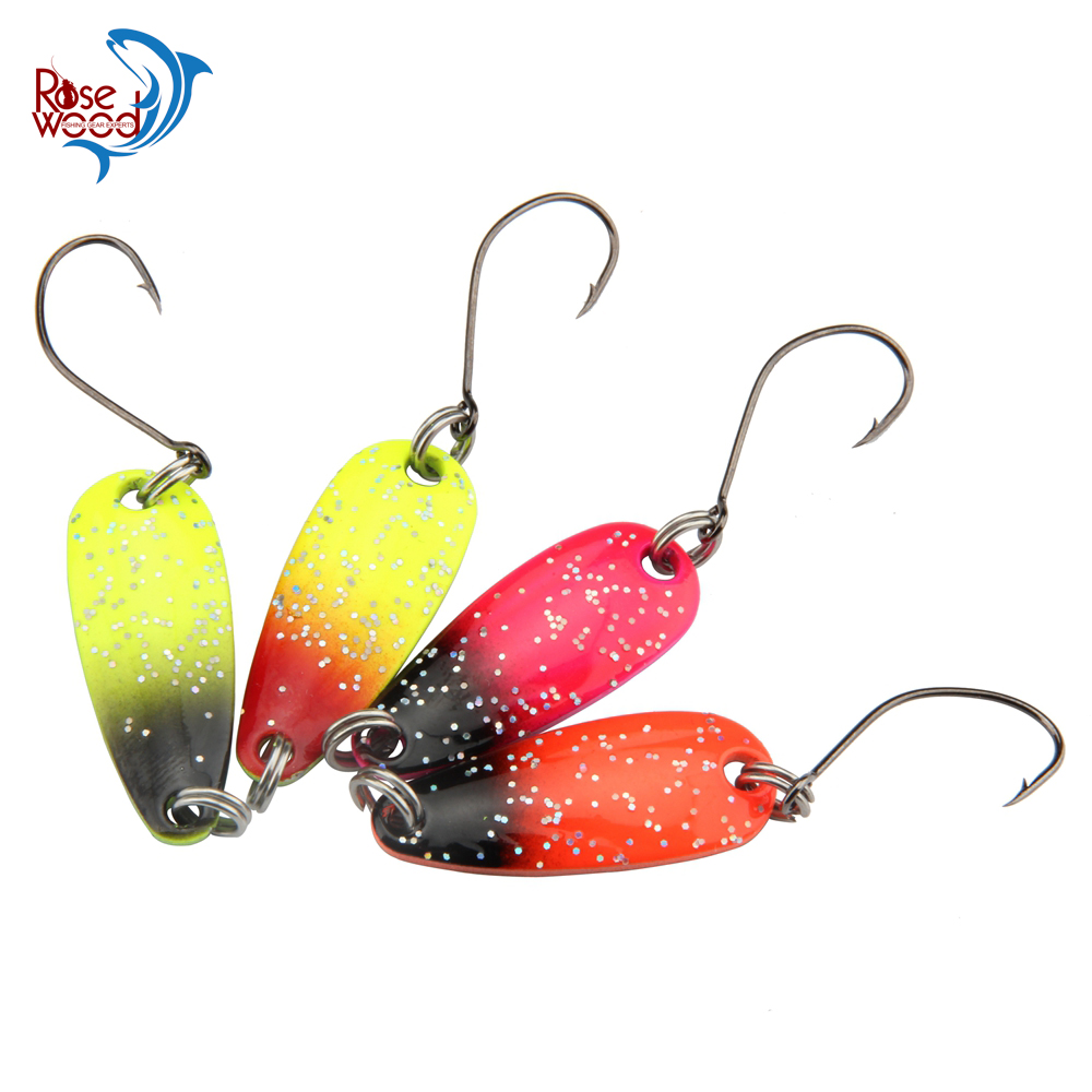 Rosewood 4pcs 3g multi color painting micro fishing spoon for Micro fishing lures