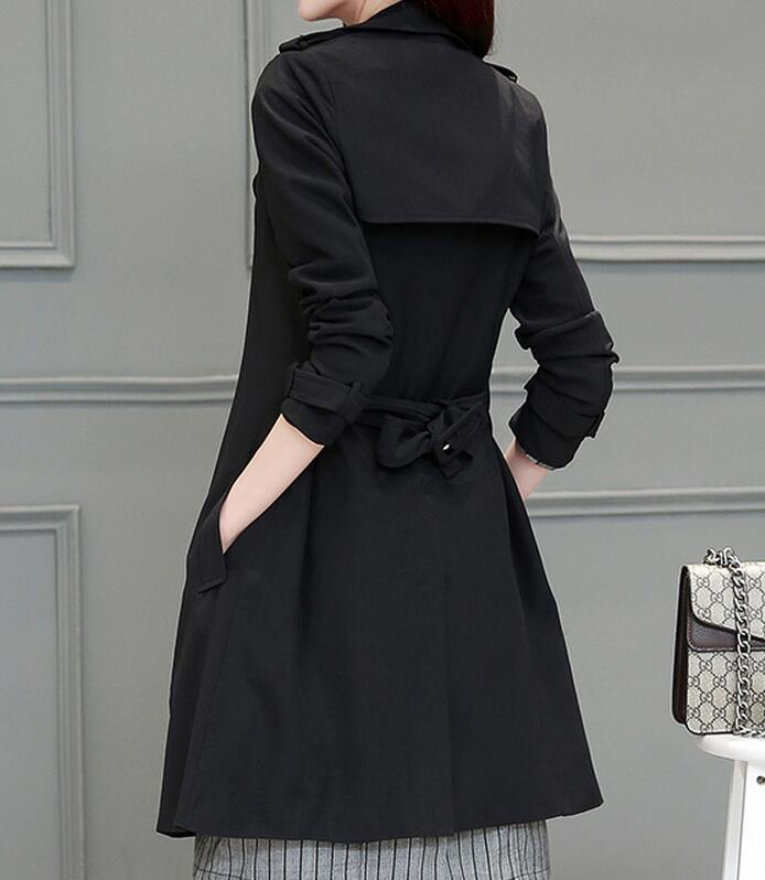 Moralité Nouvelle Cultiver Sa 2019 Poussière Mode Printemps Long De Femmes Spectacle Manteau xxl M Mince kaki argent Noir Chaude gXqwOPB