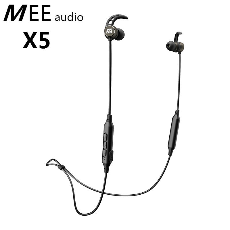 Original MEE Audio X5 Bluetooth Wireless Noise-Isolating In-Ear Stereo Headset Earphone Built-in Mic With Bass Magnets Headphone