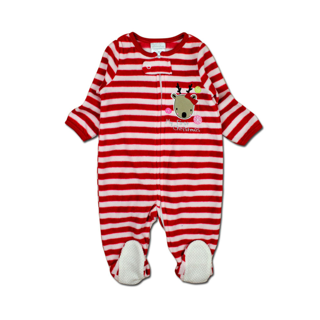 c983c6fd9 2018 christmas baby girl clothes soft fleece kids one pieces ...