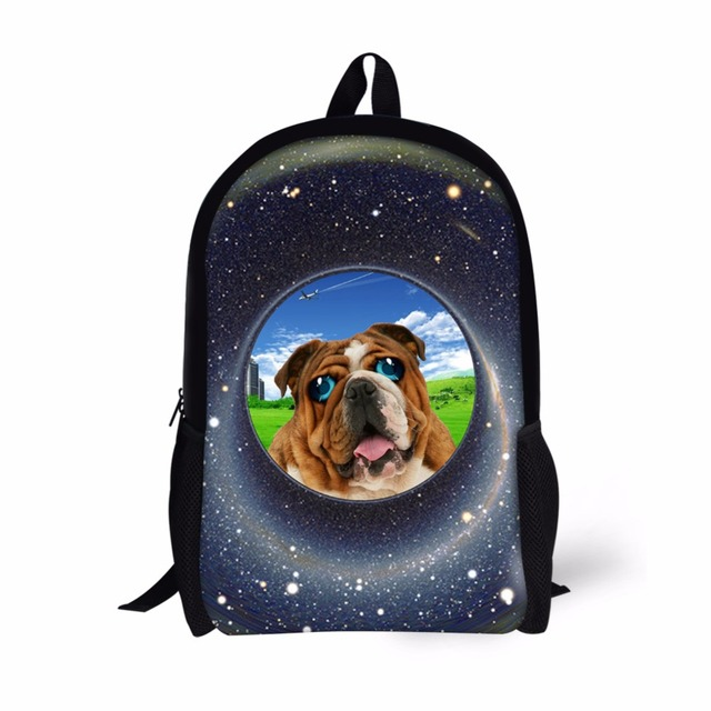Forudesigns Cute Dog Cat Print Kids School Bag S Boys Customized Book Funny