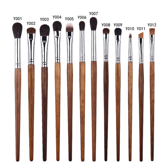 BBL 1 Piece Rosewood Professional Eye Makeup Brush Precision Blender Highlighter Eyeshadow Smudger Brush Angled Eyebrow Brushes 3