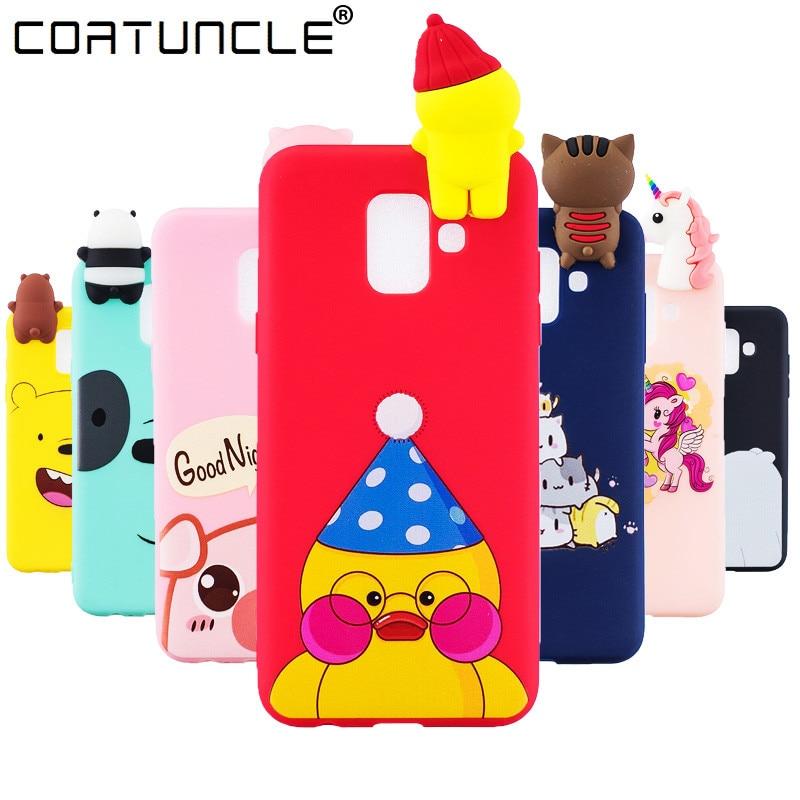 A6 2018 Case on sFor Coque Samsung Galaxy A6 A8 Plus 2018 Case For Samsung A8 2018 Cover Soft Silicone Cute Cartoon Phone Cases