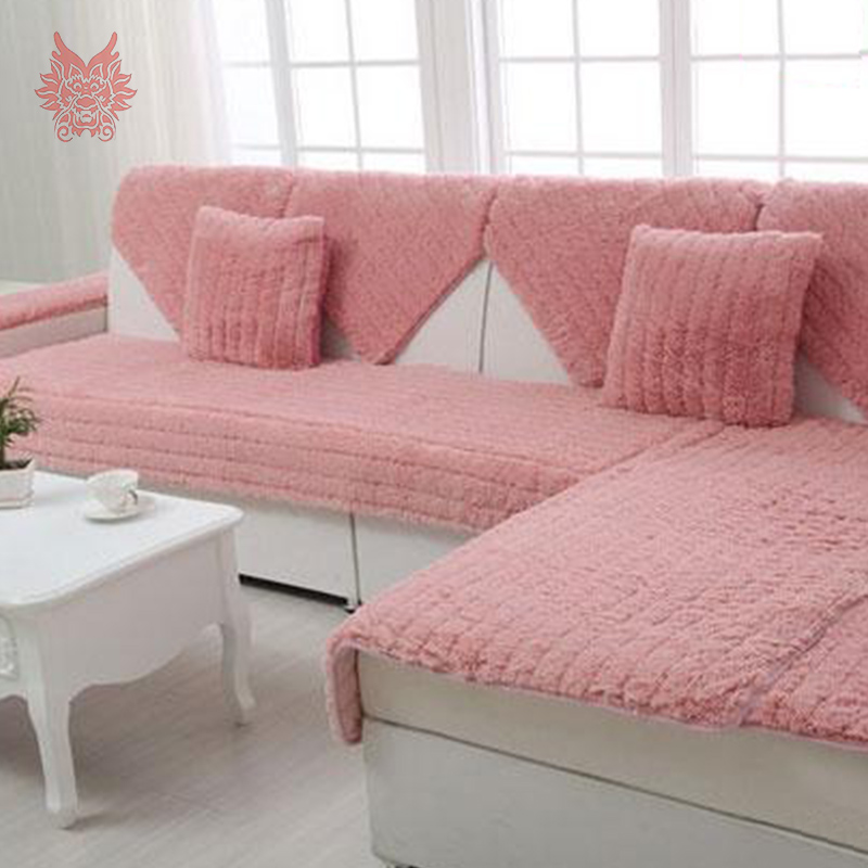 Pink Sofa Cover: Aliexpress.com : Buy Modern Style Pink/camel/white/grey