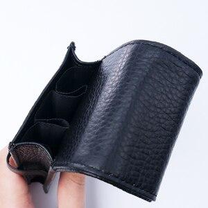 Image 4 - Pen Bag Pen Storage Pencil Bag Wancher Genuine Leather Fountain Pen Case Cowhide 3 Pen Holder Pouch Sleeve