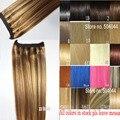 """16 """"-32"""" 100% Pelo Brasileño de Remy Flip En/sobre halo de cabello Extensiones de Cabello Humano #8/613 80g-220g 1 unids Sencillo Set Postizos"""