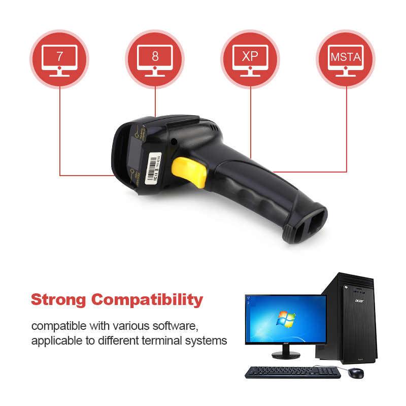 Best Price USB Barcode Scanner Long Laser Barcode USB Port CCD Handheld  Barcode Scanner Bar Code Reader for POS P2P Computer