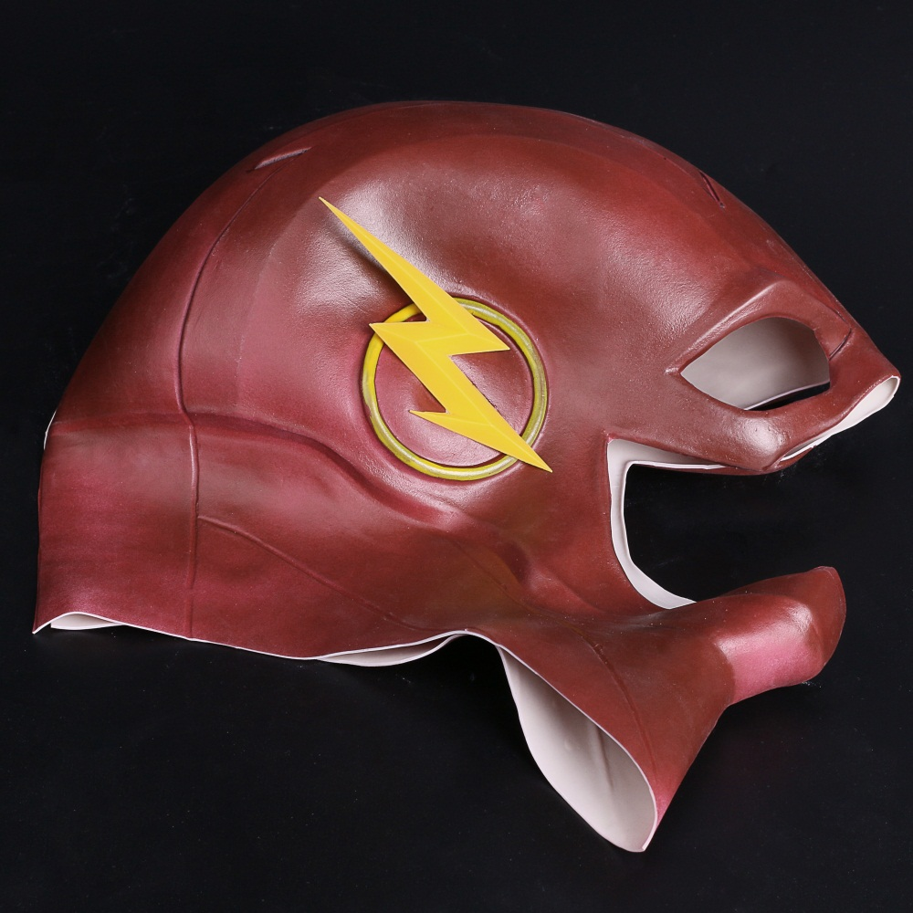 The Flash Mask DC Barry Allen Mask Cosplay Costume Prop Halloween Full Head Latex Party Masks (6)