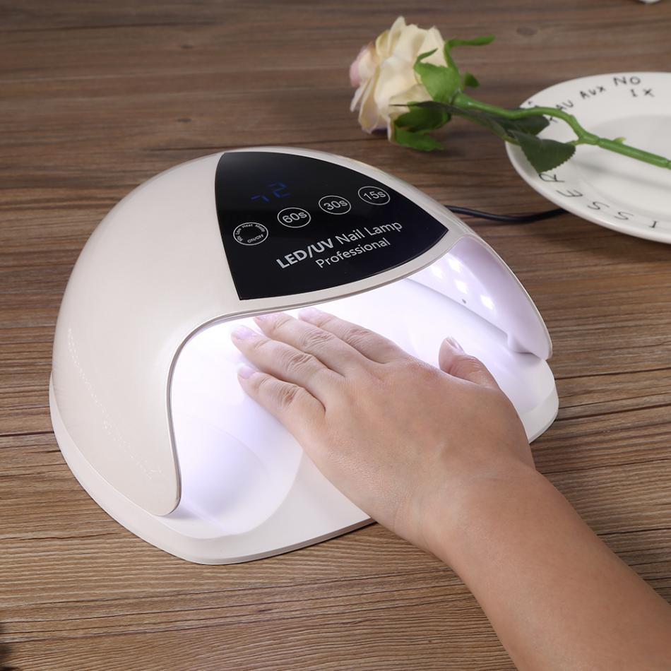 UVLED Nail Lamp 48W UV LED Nail Dryer Machine Fast Drying Curing Lamp for Nails Gel Polish Smart Sensor Manicure Nail Lamp Dryer sunuv sun6 uv led nail dryer lamp 48w smart 2 0 low heat uv lamp for manicure curing nails gel polish