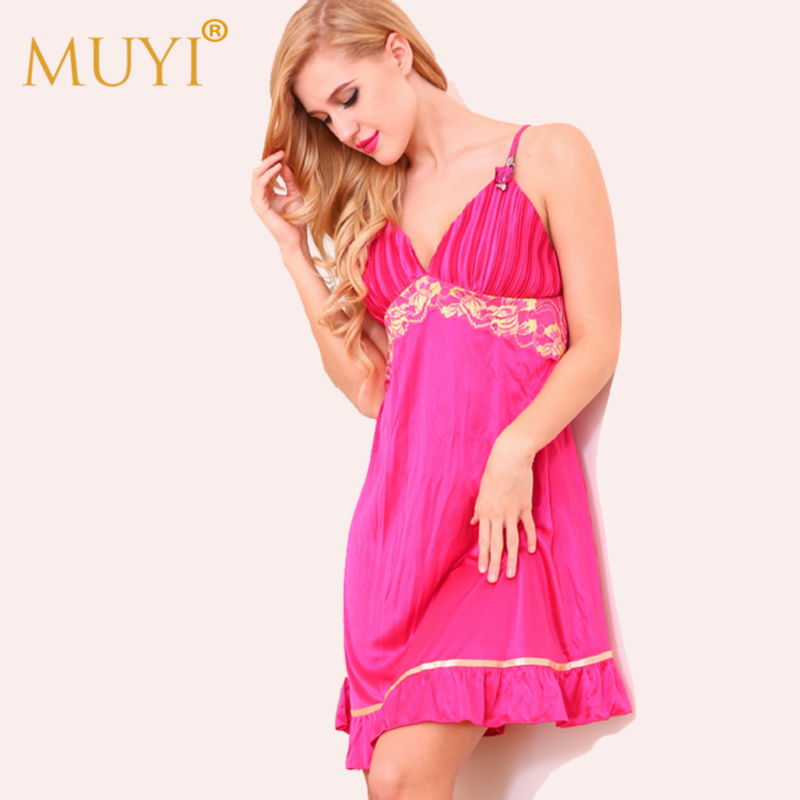 Sexy Babydoll Nightwear Sleepwear Women   Nightgowns     Sleepshirts   Nuisette Femme Spaghetti Strap Night Dress Woman Sexy Night Gown