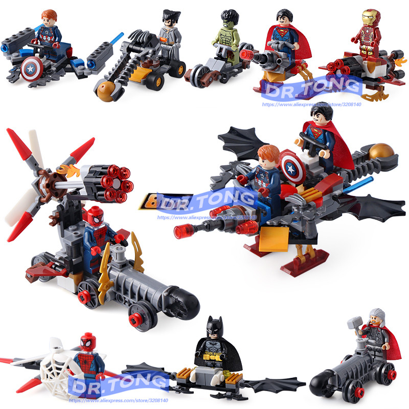DR.TONG 80pcs/lot SY658 Super Heroes Hulk Superman Thor Batman Ironman Spiderman Building Blocks Bricks Diy Toys Children Gifts dr tong 80pcs lot sy658 super heroes hulk superman thor batman ironman spiderman building blocks bricks diy toys children gifts