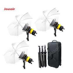 3x80W LED V-lock Power+3 Stand +Umbrellax3 Bi-color High CRI Spotlight For Video CD15