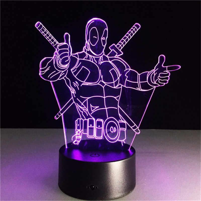 Thor Marvel Avengers 3D LED Lamp Figure Bedroom Sleep Night