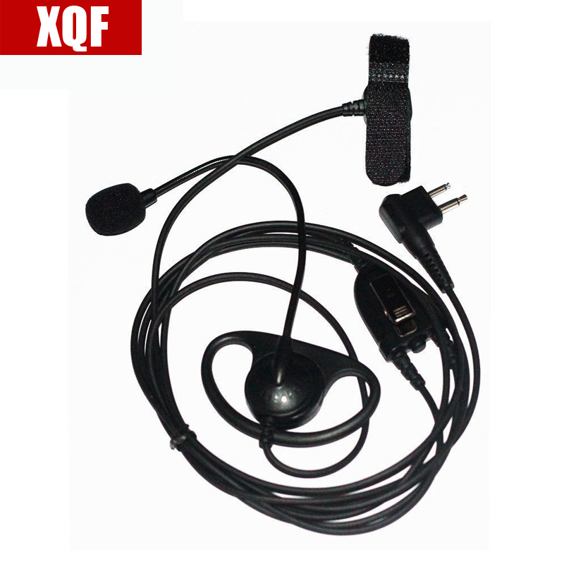 D Shape Earpiece Headset with Finger PTT Boom Mic for 2-pin Motorola GP2000, GP2100, GP300, GP308, GP68, GP88, GP88S, GP350 etc.