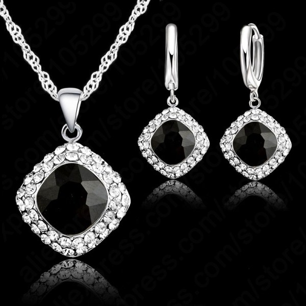 JEXXI Hot Sale 6 Warna 925 Sterling Perhiasan Perak Set Rantai Pendek - Perhiasan fashion - Foto 2