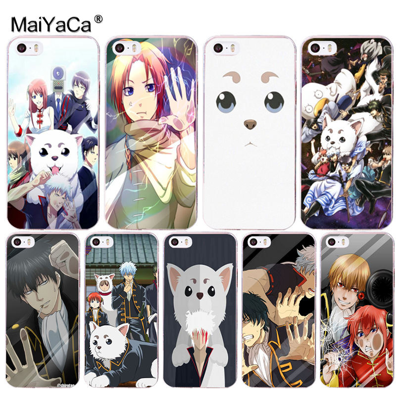 MaiYaCa Anime cat Cartoon Gintama soft tpu phone case cover for Apple iPhone 8 7 6 6S Plus X 5 5S SE 5C 4 4S case