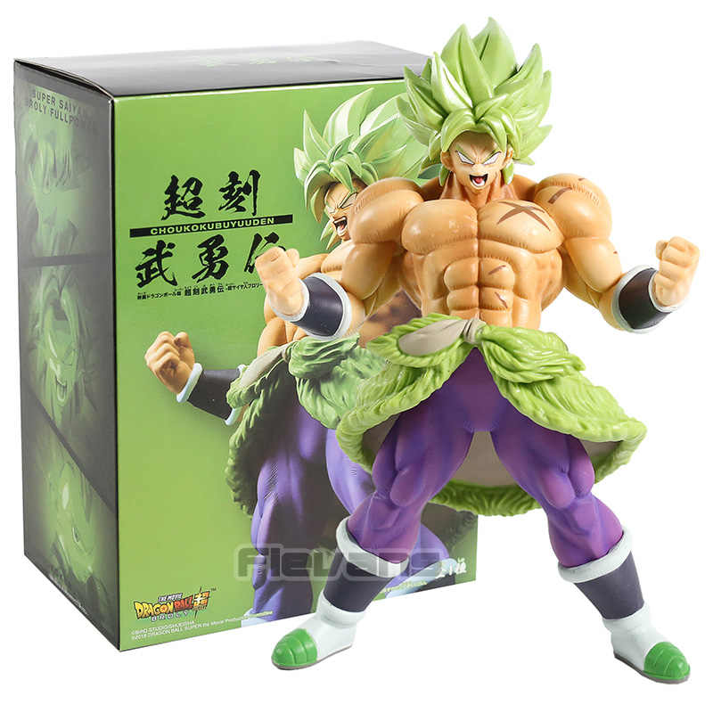 Dragon ball super z super saiyan broly cheio de energia brolly pvc figura collectible modelo brinquedo