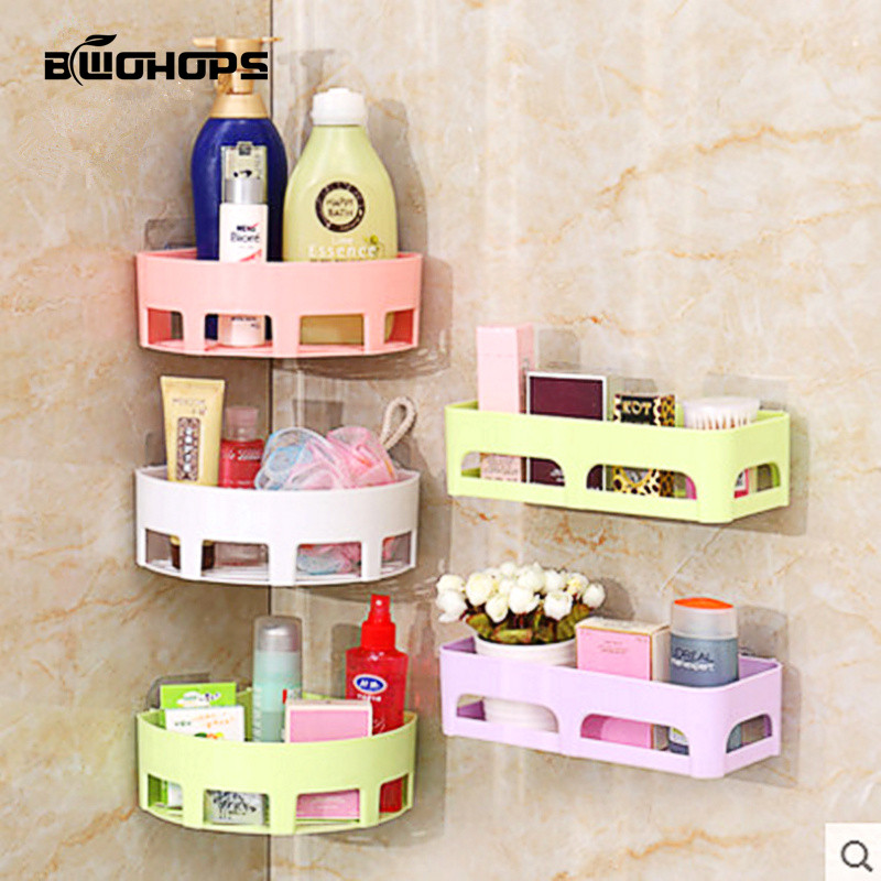 Storage Rack Bathroom Drying Shelf Kitchen &Toilet Corner Wall Sucker Hanging Toothbrush Triangles Holder Makeup Organizers