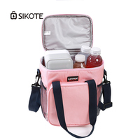 SIKOTE 9L Waterproof Oxford Cloth Ice Pack Bags Heat Preservation Lunch Milk Cold Outside Warm Insulation Portable Shoulder Bag