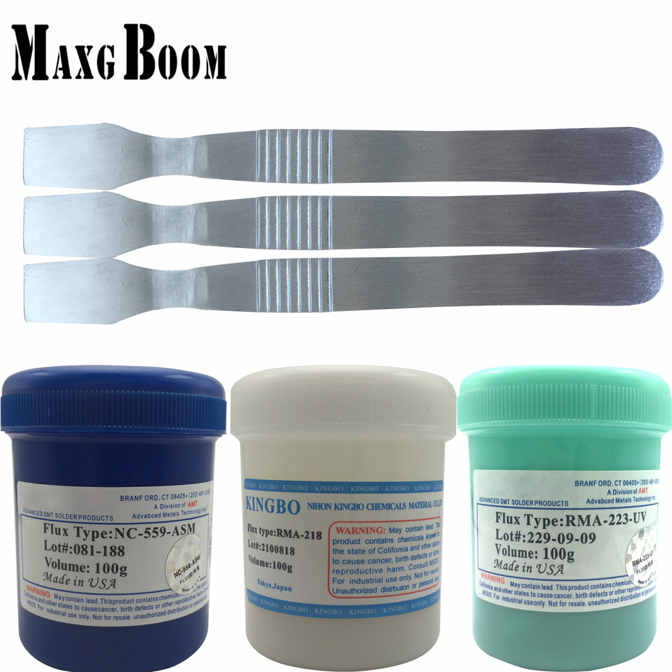 559+ 223+RMA218 100g Lead-Free Solder Flux Paste For SMT BGA Reballing Soldering Welding Repair No Clean+ESD scraper купить