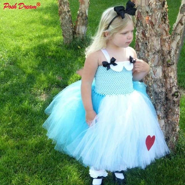 51b58f553 POSH DREAM Alice In Wonderland Children Tutu Dress Alice Theme Cosplay  Costume for Kids Princess Alice