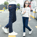 New Arrival Baby Girls Winter Denim Jeans Girls Thicken Warm Jeans  Jeans Kids Winter Long Pants
