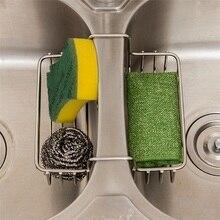 Stainless Steel Double Sink Rack Caddy Hanging Basket Kitchen organizer Storage Sponge Kitchenware for Accessoire