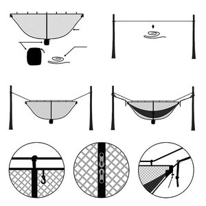 Image 5 - Ultra Large Hammock Mosquito Net To Keep Out Bug Insect Fits All Hammocks Outfitters Compact Mesh Easy Setup Outfitters SnugNet