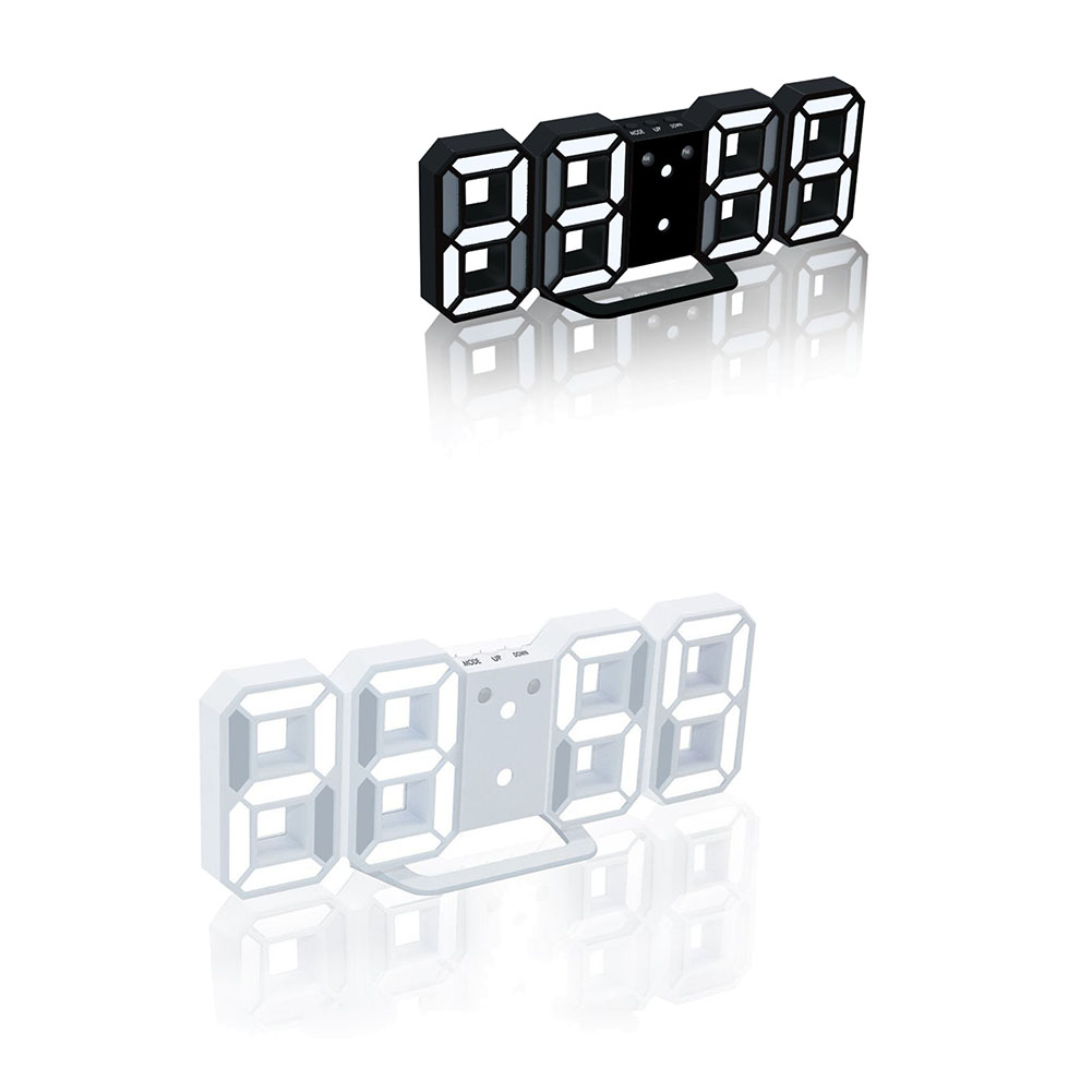 LED Snooze Dimmable Desktop Clocks 3D Digital Alarm Clock With USB Charge For Living Room Home Office Decoration FP8